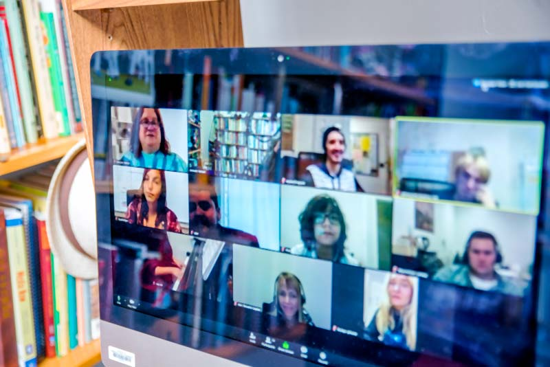 Students meet with faculty via Zoom