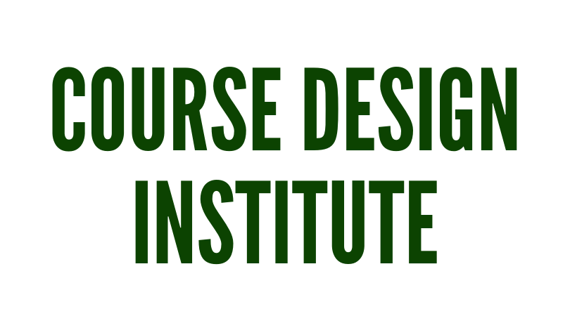 Course Design Institute Button