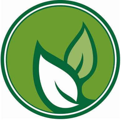 Sustainability Logo (Two Leaves in a Green Circle)