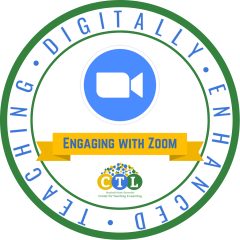Digitally Enhanced Teaching: Engaging with Zoom